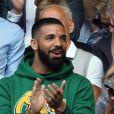 Drake dans les tribunes de Wimbledon à Londres, Royaume Uni, le 10 juillet 2018.10/07/2018 - Londres
