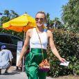 """Kristen Bell à son arrivée à la fête """"InStyle Day of Indulgence"""" à Los Angeles. Le 12 août 2018"""