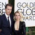 Kristen Bell et son mari Dax Shepard - La 74ème cérémonie annuelle des Golden Globe Awards à Beverly Hills, le 8 janvier 2017.