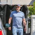 Ben Affleck devant son domicile à Los Angeles le 8 septembre 2018