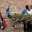 Mariage de Thomas Hollande et de la journaliste Emilie Broussouloux à la mairie à Meyssac en Corrèze. Le 8 Septembre 2018. © Patrick Bernard-Guillaume Collet / Bestimage