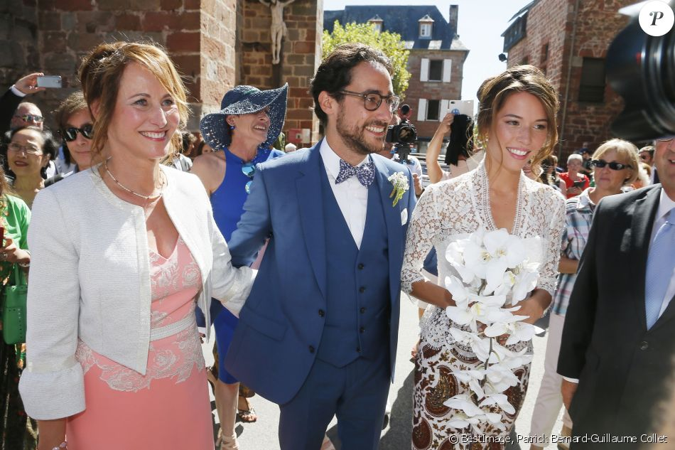 Mariage de Thomas Hollande et de la journaliste Emilie Broussouloux  l\u0027église de Meyssac en