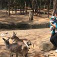 Eva Longoria et son fils Santiago ont visité un refuge pour animaux exotiques en Australie, septembre 2018