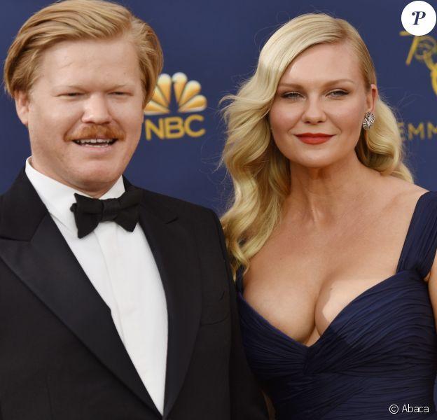 Jesse Plemons et Kirsten Dunst au 70ème Primetime Emmy Awards au théâtre Microsoft à Los Angeles, le 17 septembre 2018.