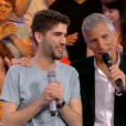 """Kevin éliminé de """"N'oubliez pas les paroles"""" le 22 juillet 2018 sur France 2. Ici avec Nagui."""