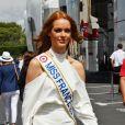 Miss France 2018, Maëva Coucke durant le Grand Prix de France au Castellet le 24 juin 2018. © Bruno Bebert / Bestimage