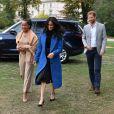 Le prince Harry et Doria Ragland, mère de Meghan Markle, secondaient la duchesse Meghan de Sussex le 20 septembre 2018 au palais de Kensington pour le lancement du livre de recettes de cuisine Together, our community cookbook qu'elle a préfacé.