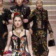 Maya Henry lors du défilé Dolce & Gabbana pour la collection Prêt-à-Porter Printemps/Eté 2019 lors de la Fashion Week de Milan, Italie, le 23 septembre 2018.