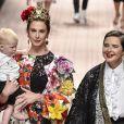 Elettra Rossellini, Ronin Lane lors du défilé Dolce & Gabbana pour la collection Prêt-à-Porter Printemps/Eté 2019 lors de la Fashion Week de Milan, Italie, le 23 septembre 2018.