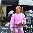 Jennifer Lopez est allée acheter un café à emporter chez Alfred à West Hollywood le 30 août 2018