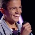 """Nassim dans """"The Voice Kids 5"""" sur TF1, le 12 octobre 2018."""