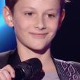 """Mano dans """"The Voice Kids 5"""" sur TF1, le 12 octobre 2018."""