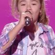 """Maïssa dans """"The Voice Kids 5"""" sur TF1 le 12 octobre 2018."""