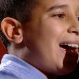 """Ismaël dans """"The Voice Kids 5"""" sur TF1 le 12 octobre 2018."""
