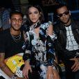 Neymar Jr. et sa compagne Bruna Marquezine - Défilé Off -White™, collection prêt-à-porter printemps-été 2019 lors de la Fashion Week de Paris, le 27 septembre 2018.