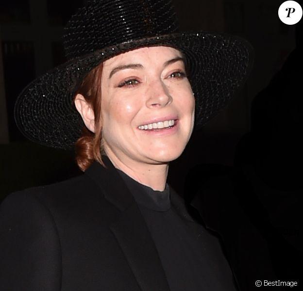Lindsay Lohan arrive à l'hôtel La Reserve lors de la Fashion Week à Paris, le 27 septembre 2018