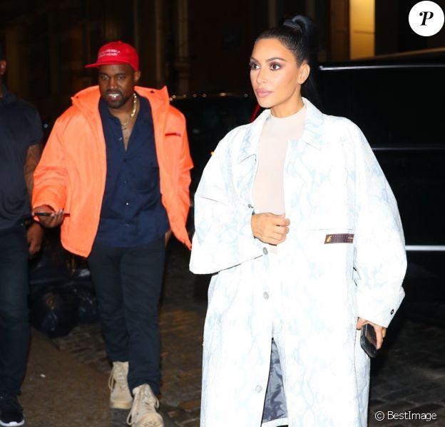 Kim Kardashian et Kanye West à New York, le 29 septembre 2018.