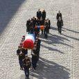 Seda Aznavour (Fille de Charles Aznavour), Ulla Aznavour et ses enfants Nicolas, Mischa et Katia, Emmanuel et Brigitte Macron - Arrivées à l'hommage national à Charles Aznavour à l'Hôtel des Invalides à Paris. Le 5 octobre 2018 © Jacovides-Moreau / Bestimage