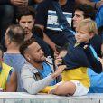 """Neymar Jr et son fils Lucca da Silva - Neymar Jr participe à la finale de """"Neymar Jr's Five Women's Final"""" à Sao Paulo au Brésil le 21 juillet 2018."""
