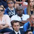 Fayza Lamari (mère de Kylian Mbappé), Wilfried Mbappé (père de Kylian Mbappé) (Parents de Mbappe) - Célébrités dans les tribunes lors du match de coupe du monde opposant la France au Danemark au stade Loujniki à Moscou, Russia, le 26 juin 2018. Le match s'est terminé par un match nul 0-0. © Cyril Moreau/Bestimage