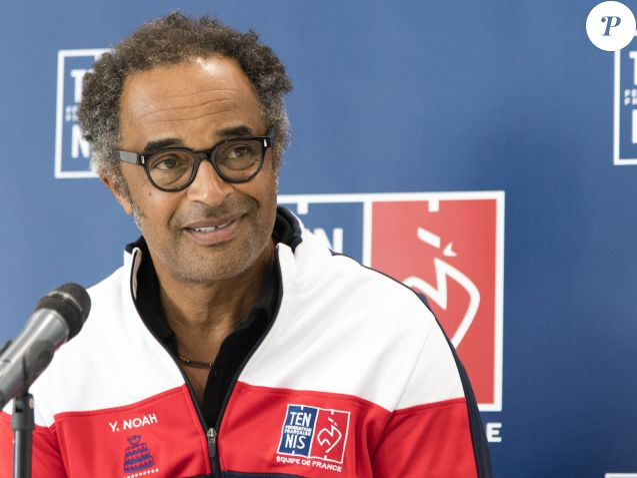 Yannick Noah annonce la liste des 6 joueurs sélectionnés pour la finale de la Coupe Davis lors d'une conférence de presse au siège de la Fédération Française de Tennis à Paris, le 14 novembre 2017. © Pierre Perusseau / Bestimage