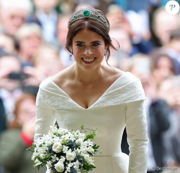 La princesse Eugenie d'York - Cérémonie de mariage de la princesse Eugenie d'York et Jack Brooksbank en la chapelle Saint-George au château de Windsor, Royaume Uni le 12 octobre 2018.