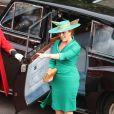 Sarah Ferguson, duchesse d'York - Les invités arrivent à la chapelle St. George pour le mariage de la princesse Eugenie d'York et Jack Brooksbank au château de Windsor, Royaume Uni, le 12 octobre 2018.