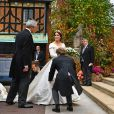 La princesse Eugenie d'York - Arrivées à la chapelle St. George pour le mariage de la princesse Eugenie d'York et Jack Brooksbank au château de Windsor le 12 octobre 2018.