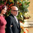 Demi Moore en Stella McCartney - Sorties après la cérémonie de mariage de la princesse Eugenie d'York et Jack Brooksbank en la chapelle Saint-George au château de Windsor, Royaume Uni, le 12 octobre 2018.