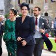Liv Tyler en Stella McCartney - Les invités arrivent à la chapelle St. George pour le mariage de la princesse Eugenie d'York et Jack Brooksbank au château de Windsor, Royaume Uni, le 12 octobre 2018.