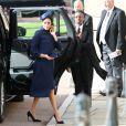 Meghan Markle, duchesse de Sussex - Les invités arrivent à la chapelle St. George pour le mariage de la princesse Eugenie d'York et Jack Brooksbank au château de Windsor, Royaume Uni, le 12 octobre 2018.