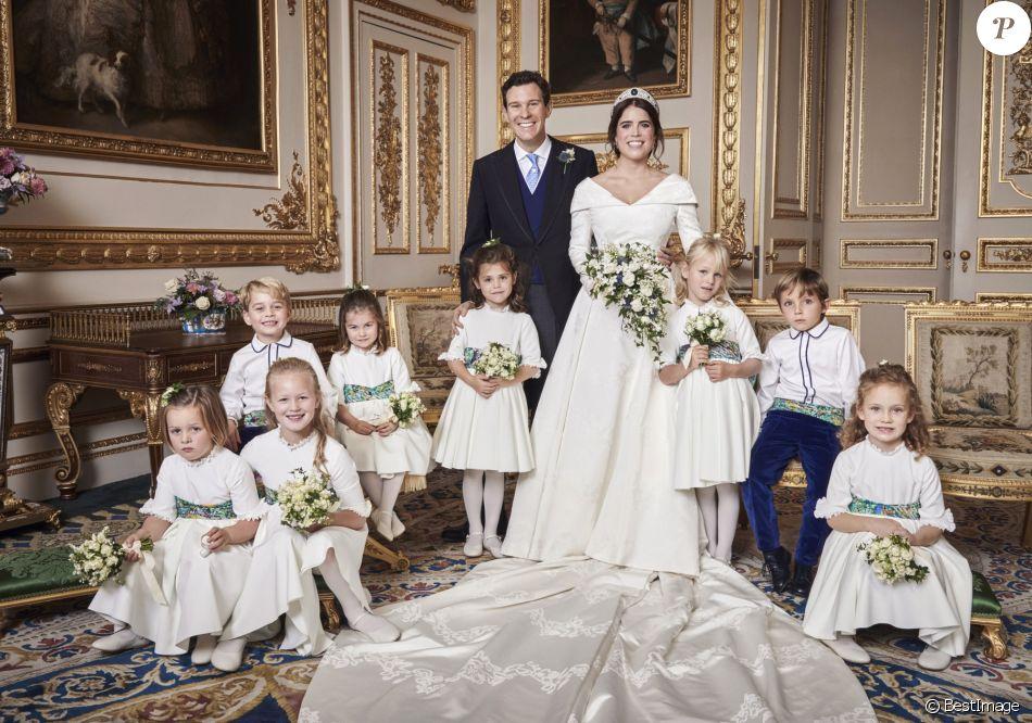 Le palais de Buckingham a dévoilé les photos officielles du mariage de la princesse  Eugenie avec