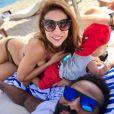 Ariane Brodier en vacances avec son fils et chéri Fulgence, dans l'Hérault. Instagram, septembre 2018