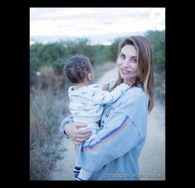 Ariane Brodier et son fils - Instagram, 17 octobre 2018