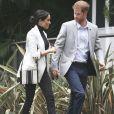 """Le prince Harry, duc de Sussex, et Meghan Markle, duchesse de Sussex, enceinte, se rendent au """"Domain"""", un espace ouvert de 34 hectares à Sydney, le 21 octobre 2018."""