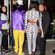 Winnie Harlow et Wiz Khalifa arrivent main dans la main au Staples Center à Los Angeles Le 20 octobre 2018.