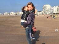 Sylvie Tellier, maman tendre avec sa petite Margaux : Sa carte postale vendéenne