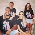 Jermon Bushrod pose avec sa femme Jess et leurs deux enfants. Instagram, le 7 juin 2018.