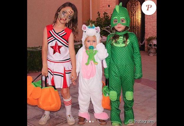 Les enfants de Megan Fox et Brian Austin Green, Noah, Journey et Bodhi, déguisés pour Halloween. Octobre 2018.