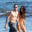 Exclusif - Megan Fox et son mari Brian Austin Green en vacances sur l'île de Kailua-Kona à Hawaï le 28 mars 2018.