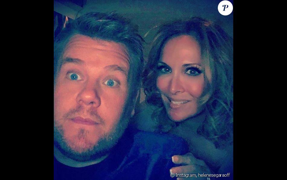 Hélène Ségara et James Corden, sur Instagram, le 4 novembre 2018