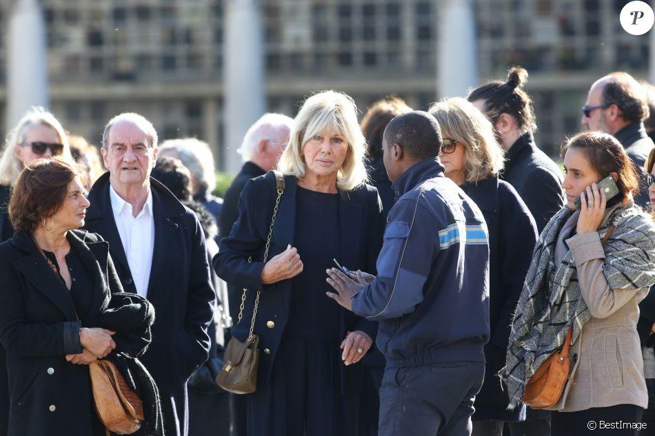 Maryse Gildas - Obsèques du journaliste, animateur de télévision et animateur de radio français Philippe Gildas en la salle de la Coupole au crématorium du cimetière du Père-Lachaise à Paris, France, le 5 novembre 2018.