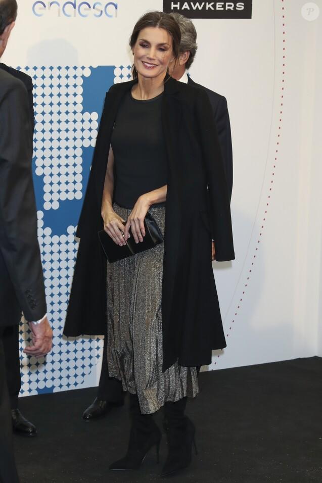"""La reine Letiziad'Espagne - Soirée du 20e anniversaire du quotidien """"La Razón"""" à Madrid, le 5 novembre 2018."""