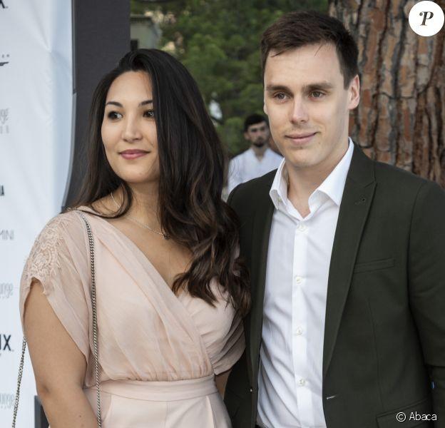 Louis Ducruet et sa fiancée Marie Chevallier à Monaco, le 25 mais 2018.
