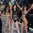 Winnie Harlow, Sui He, Bella Hadid et Lameka Fox - Défilé Victoria's Secret à New York, le 8 novembre 2018