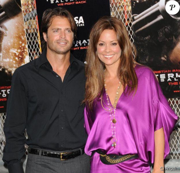 David Charvet de Brooke Burke à la première de Terminator hier à Los Angeles