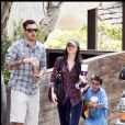 Exclusif - Brian Austin Green, Megan Fox et Kassius Green à Los Angeles le 23 mai 2010