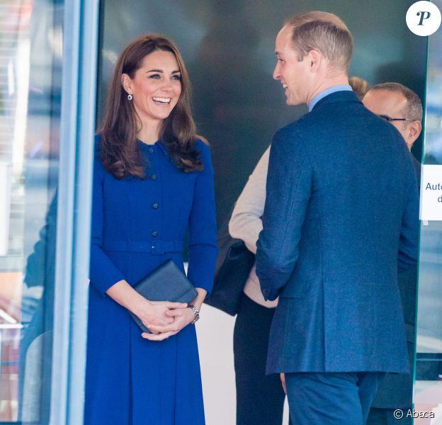 La duchesse Catherine de Cambridge et le prince William au nouveau centre de technologie des composites de McLaren Automotive à Rotherham, le 14 novembre 2018.