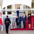 Le roi Willem-Alexander et la reine Maxima des Pays-Bas ont accueilli le président autrichien Alexander van der Bellen et son épouse Doris le 14 novembre 2018 à La Haye, au palais Noordeinde.