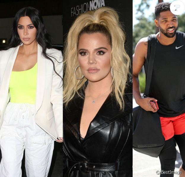 Kim Kardashian, Khloé Kardashian et Tristan Thompson.
